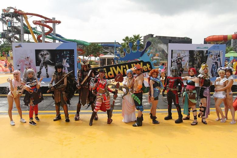 Cosplayers at Wild Wild Wet. This year's Cosfest features water segment for the first time