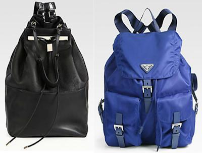 The Row Backpack and Prada's iconic Nylon Backpacks
