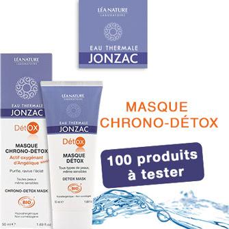 Testeur de produit : 100 Masques Chrono Détox de Eau Thermale Jonzac