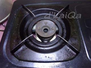 Noda Pada Kompor Gas