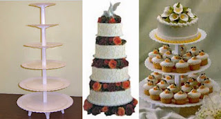 Top towering tiers wedding cake stand set