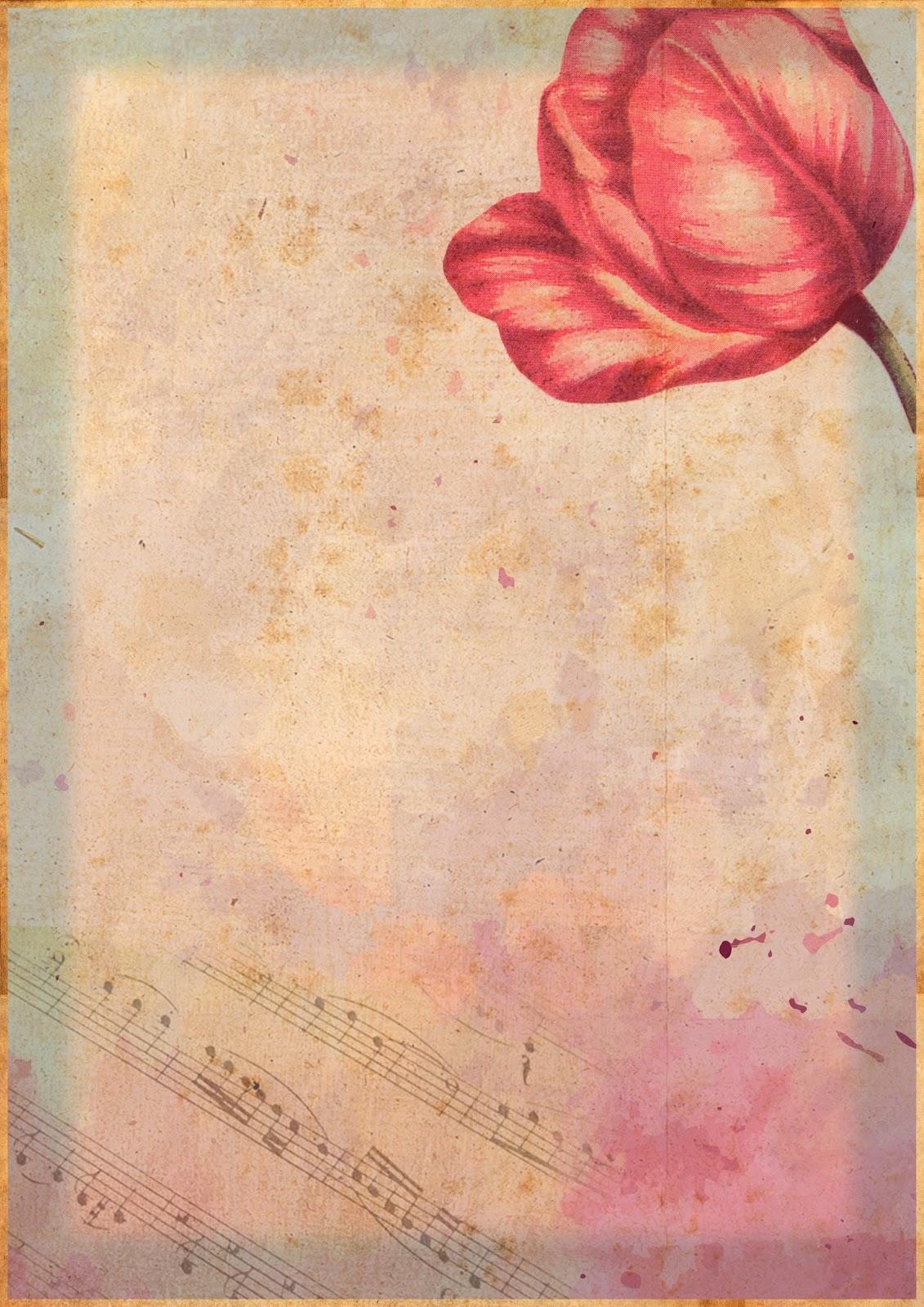 Papeles vintage gratis para scrapbooking decoupage y - Papel vintage pared ...