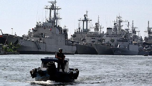 SIAP SIAGA !! TNI AL Siap Gempur, Kapal Perang Sudah Berada Di Posisi Wilayah Ini