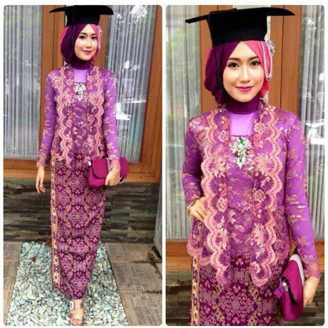 Model Kebaya Wisuda Hijab Modern Cantik