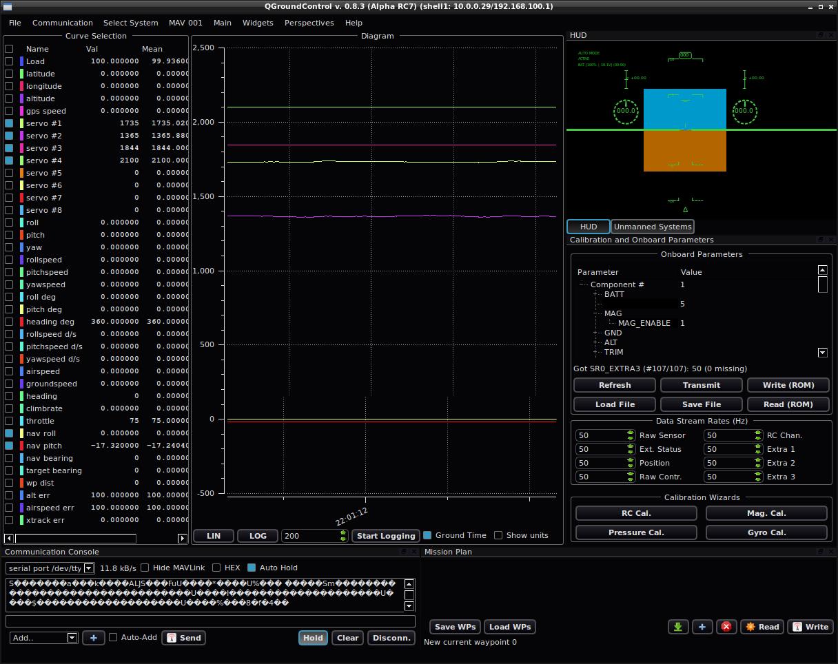 dev/random: ArduPilotMega and qGroundControl for testing