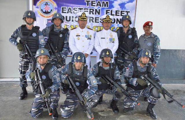 Komandan Lanal Cilacap Resmikan Tim EFQR