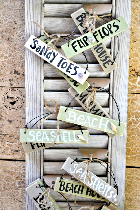Beach signs with a nautical look