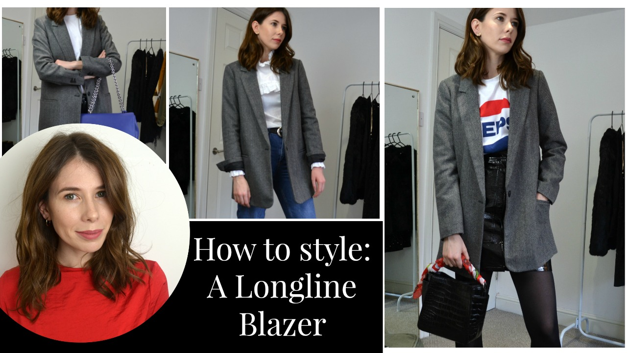 How to style a longline Blazer 3 ways ft H&M, Zara, Topshop, Alexa Chung for Marks and Spencer