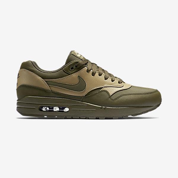 new arrival ea355 ef2a3 Nike Air Max 1 Leather Premium. Dark Loden, Desert Camo, Black, Dark Loden.  705282-300