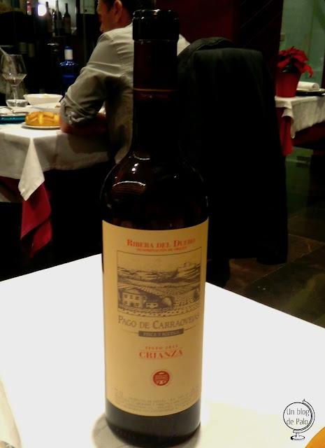 Restaurante Montellén Valladolid - carta vinos - Pago