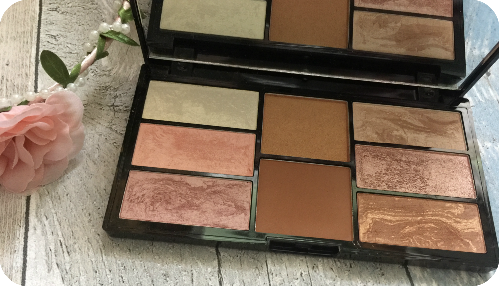 freedom pro blush and highlight palette in bronze and baked review