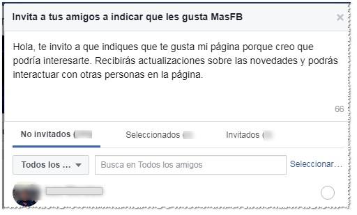 Invita a tus amigos cercanos - MasFB