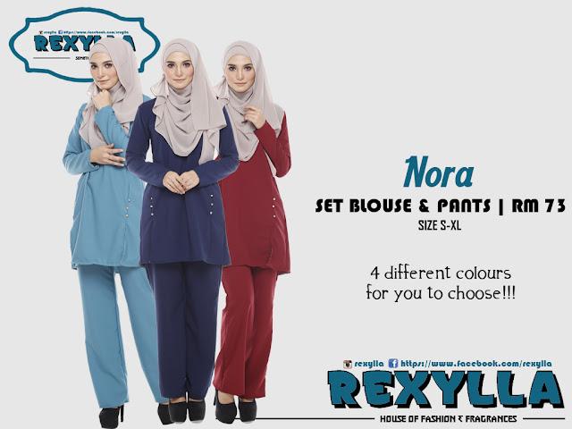 rexylla, warda set, blouse & pants, nora collection