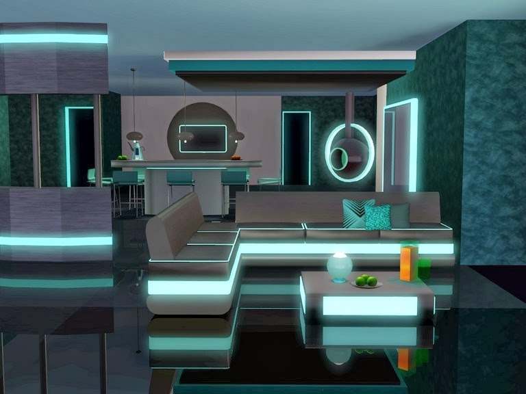 My Sims 3 Blog Futuristic Dream Living Amp Dining Set By