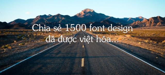 1500 font Việt hóa