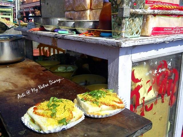 Bombay sandwich at Bapu Bazaar, Jaipur food, Rajasthan