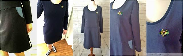 Kleid aus Sweat mit Taschen nähen