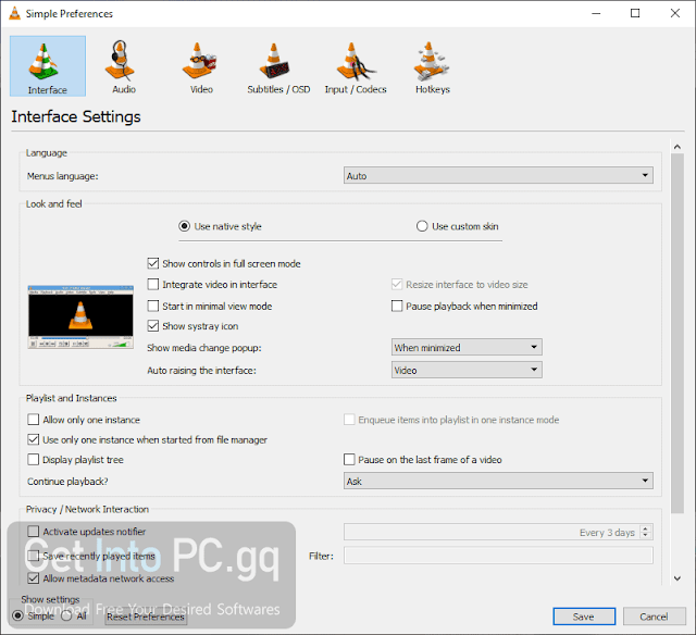 VLC Media Player full setup