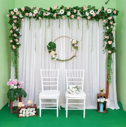 backdrop dekorasi pernikahan dan lamaran - sewa tenda