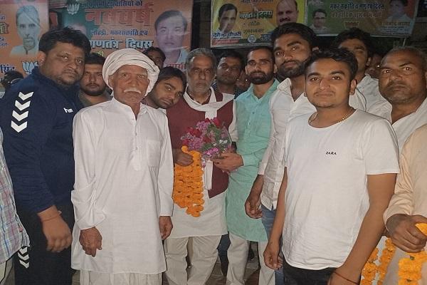 Minister-Krishanpal-Gurjar-Welcomed-by-Harendra-Janauli-in-Palwal