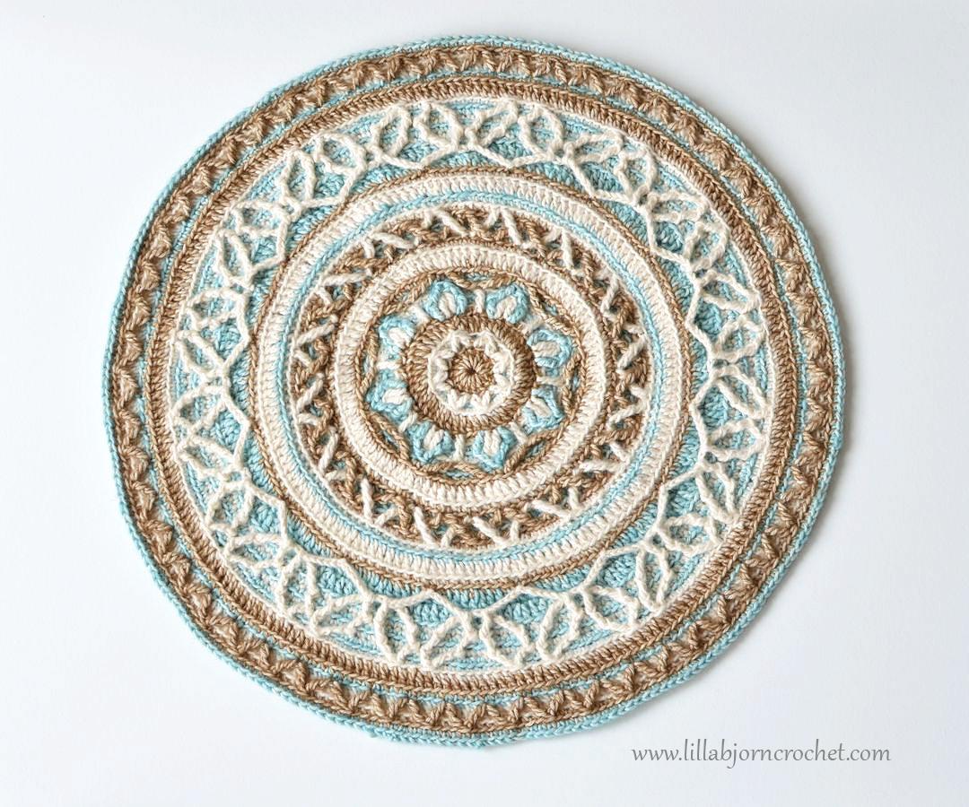 Joana's Mandala - overlay crochet pattern by Lilla Bjorn Crochet