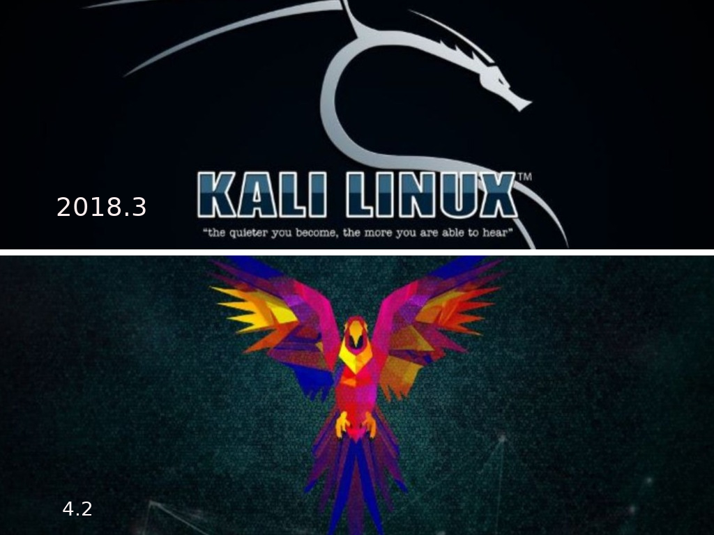 kali and parrot Hacking os update note ~ Geeky Junction