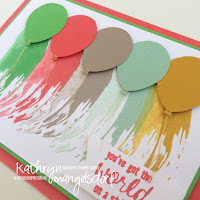 Kathryn Mangelsdorf Stampin' Up! Onstage Painter's Palette Balloon Card