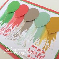 Kathryn Mangelsdorf Stampin' Up! Onstage Painter's Palette Balloon Card