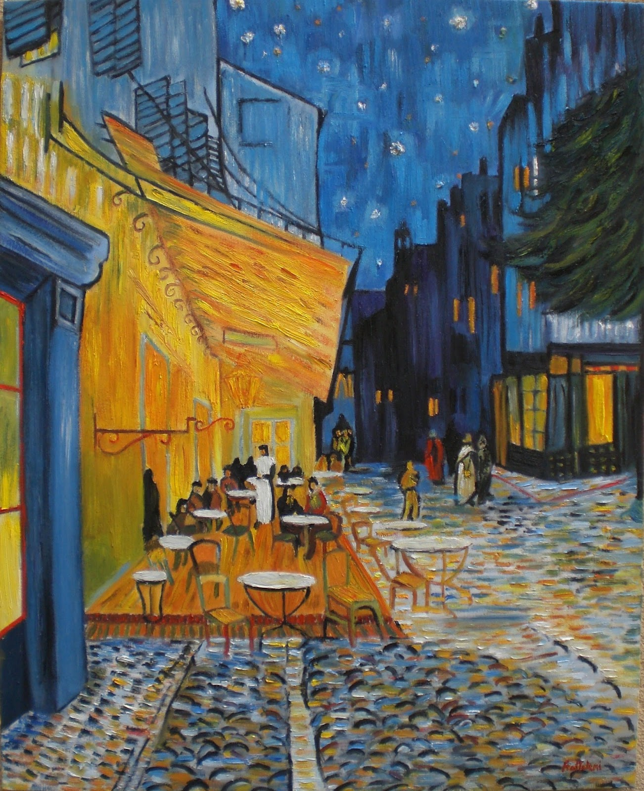 Angela Frattalemi Van Gogh Terrazza del caff la sera