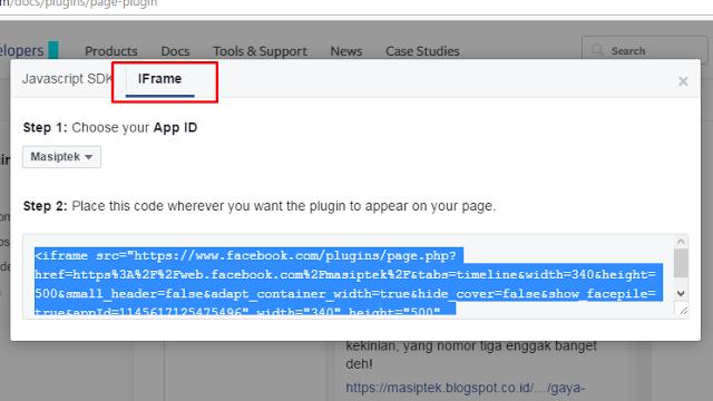 Cara Menambahkan Facebook Like Box / Fanspage ke Blogger
