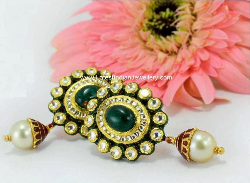 Classic Gold Kundan Earrings