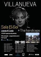 Concierto deVillanueva y The Handicaps en Sala el Sol