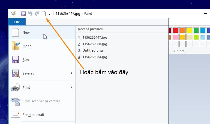 cách mở MS Paint trên windows