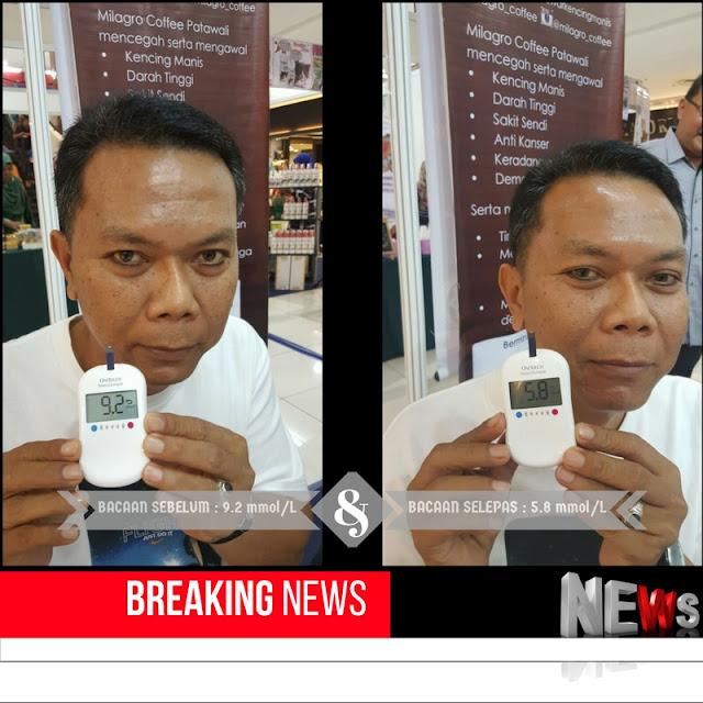 TESTIMONI PENAWAR KENCING MANIS DENGAN MILAGRO COFFEE
