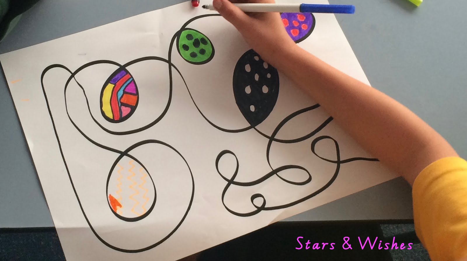 Workbooks squiggle art worksheets : Stars and Wishes