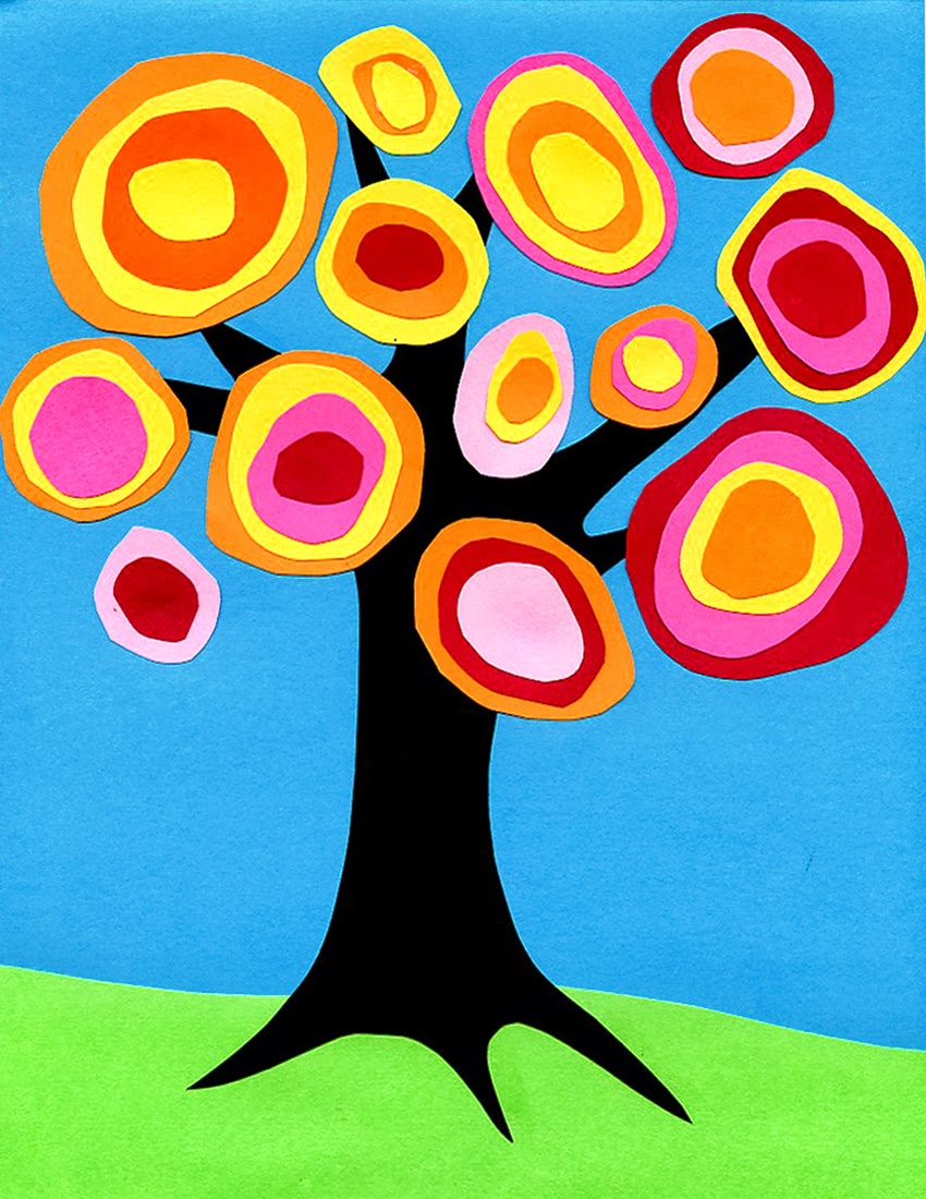 Kandinsky Tree Collage - Art Projects for Kids