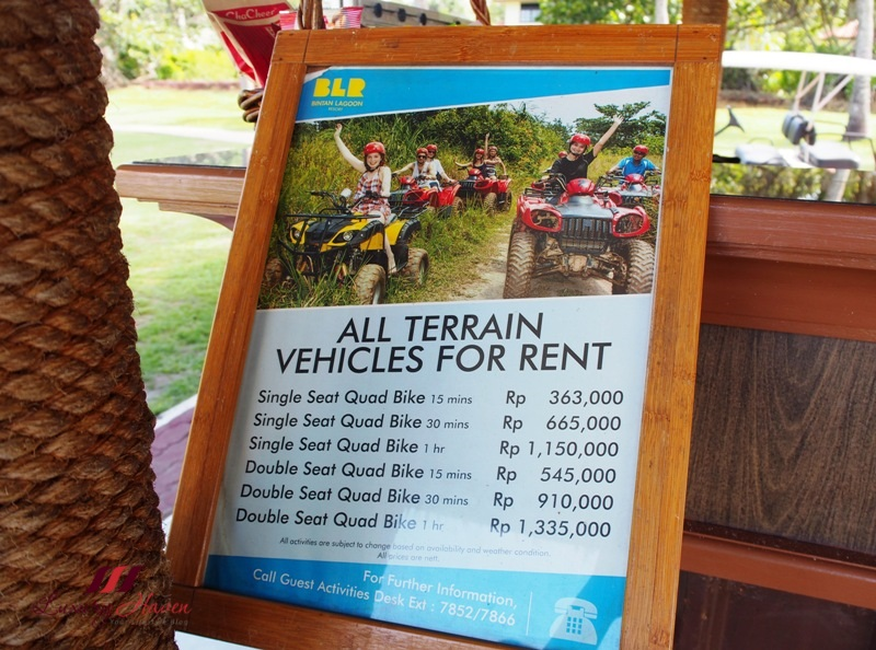 bintan lagoon resort atv prices all terrain vehicle