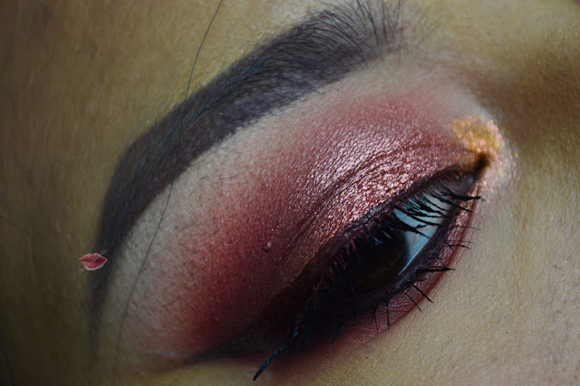 Warm makeup using Nyx Ultimate Shadow Palette in Warm Neutrals, Fenice di Neve Cosmetics e 824 di Hean
