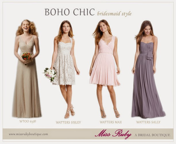 05f374790eb These bridesmaids dresses from Miss Ruby are the perfect combination for  your Boho Chic wedding!