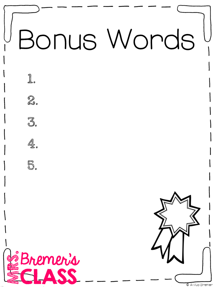 Mrs. Bremer's Class: {FREE} Spelling Test Templates