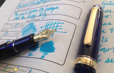 Platinum #3776 Century Chartres Blue Fountain Pen in Music Nib Review