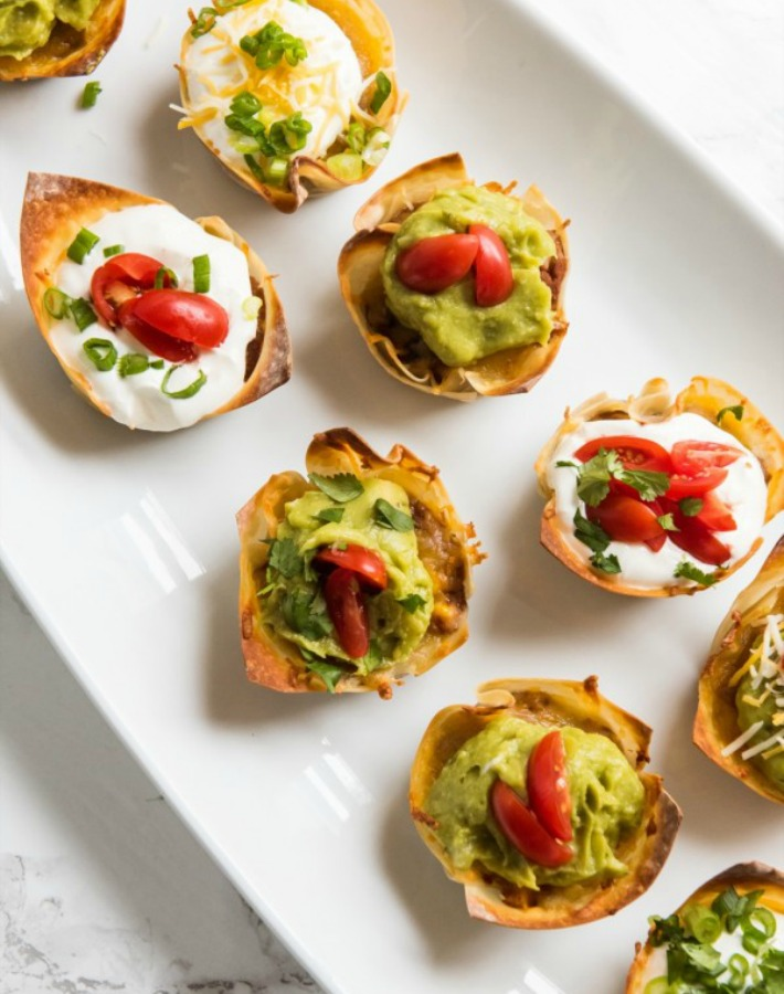 Tacos crujientes con vegetales
