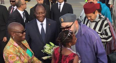 Le Roi Mohammed VI en visite de travail en Côte d'Ivoire