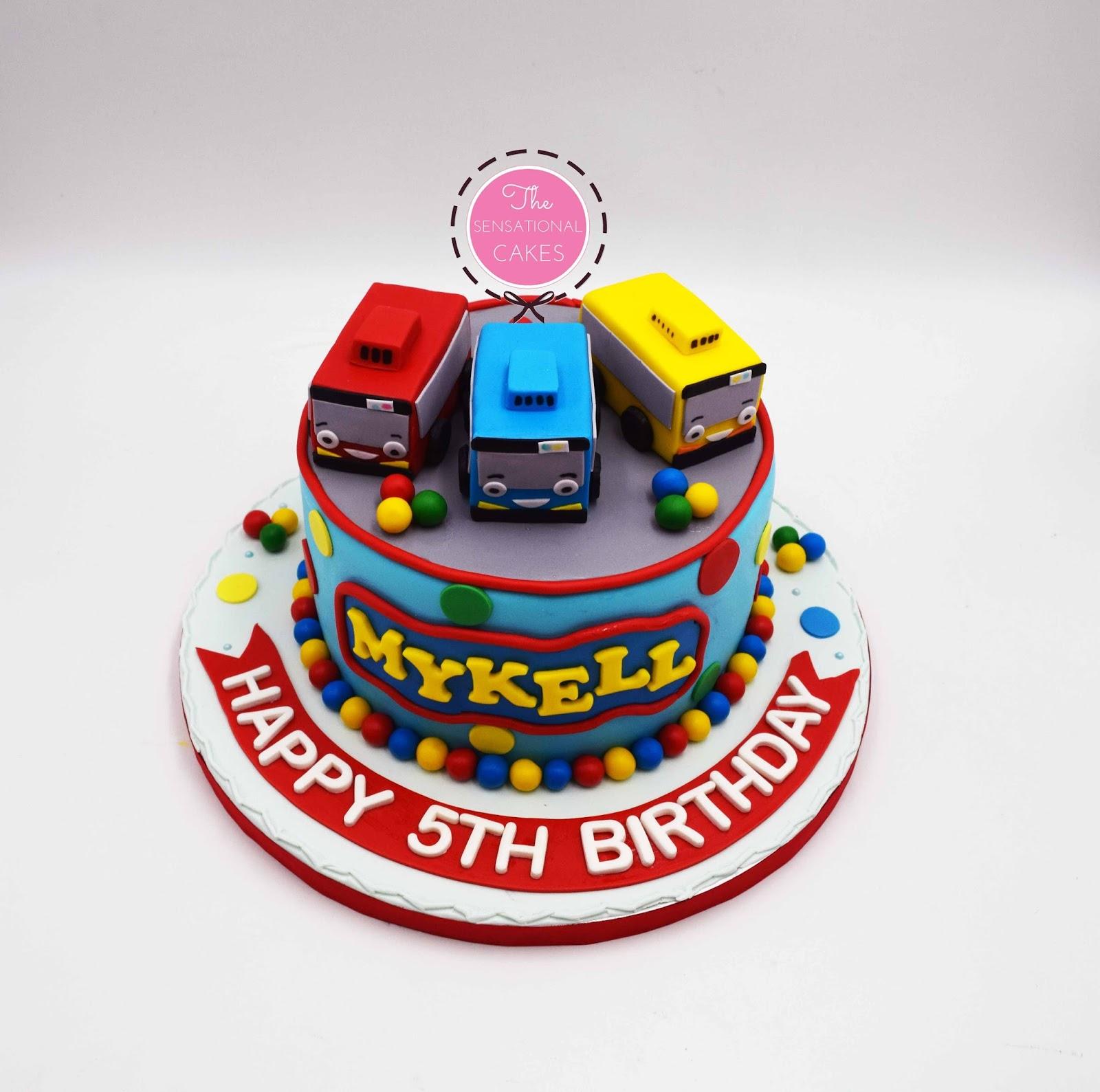The Sensational Cakes Michael 5th Birthday Bus Cake Singapore Tayo