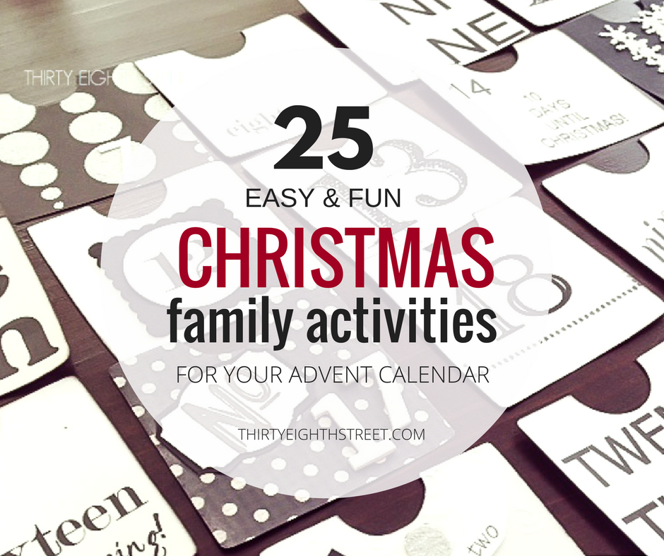 December Family Activity Ideas, Christmas Activity Ideas, Easy Advent Calendar Activities, Christmas Activity Ideas For Christmas Time
