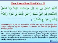 Doa Harian Ramadhan Hari 21-30
