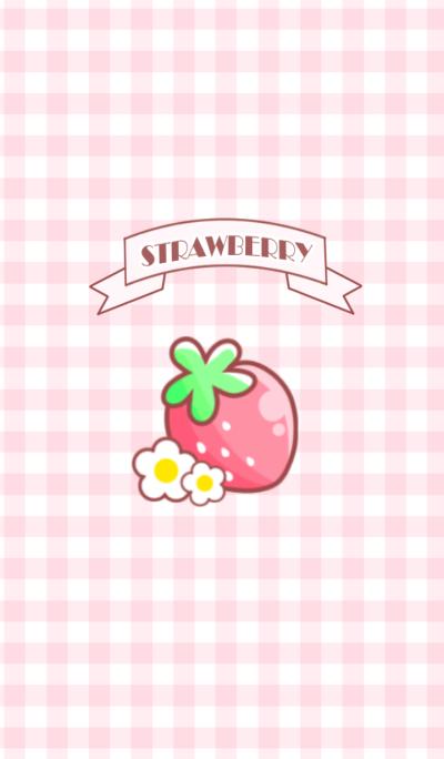 strawberry pink.