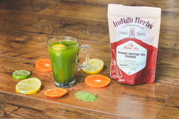 Citrus fruits matcha green tea