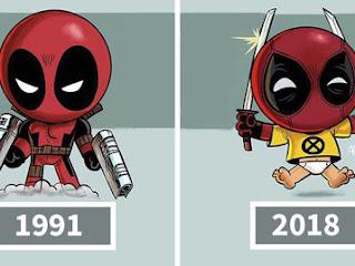 Artista ilustra a evolução dos ícones da cultura pop e o resultado é bem legal