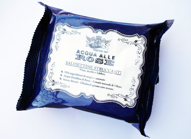 Acqua alle Rose by Manetti and Roberts make-up removing wipes with noble roses extracts, review